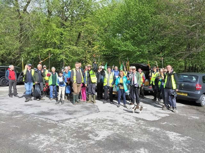 The group holds an annual litter pick along the valley. Photo by Graham Appleby, RVCG, 2019.