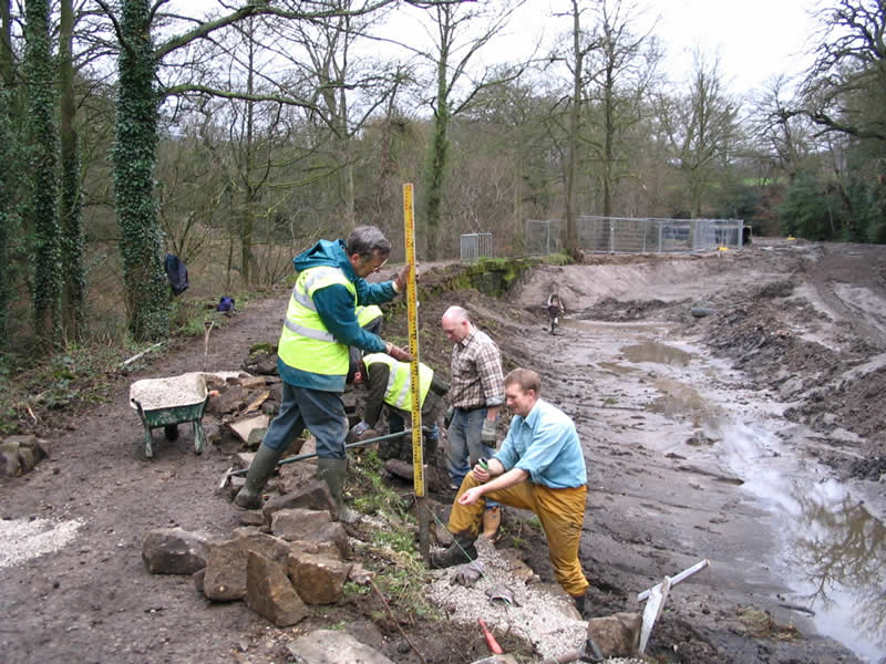 Conservation work in the Rivelin Valley, Sheffield