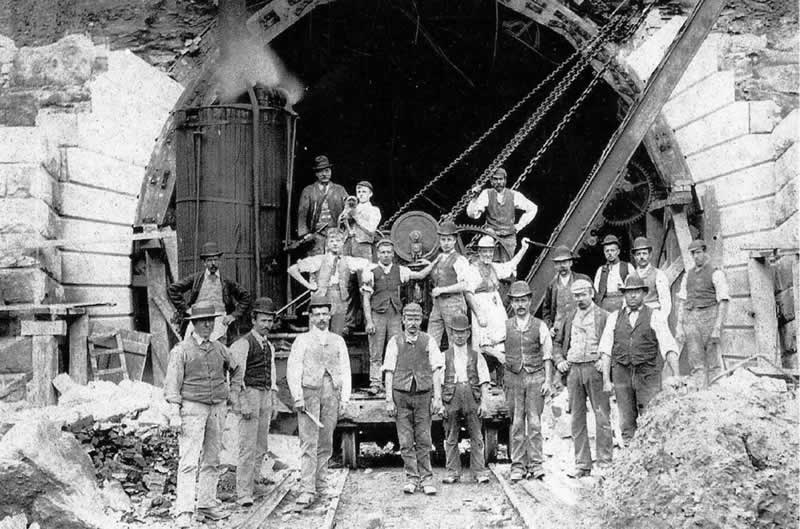 Totley Tunnel navvies, 1893