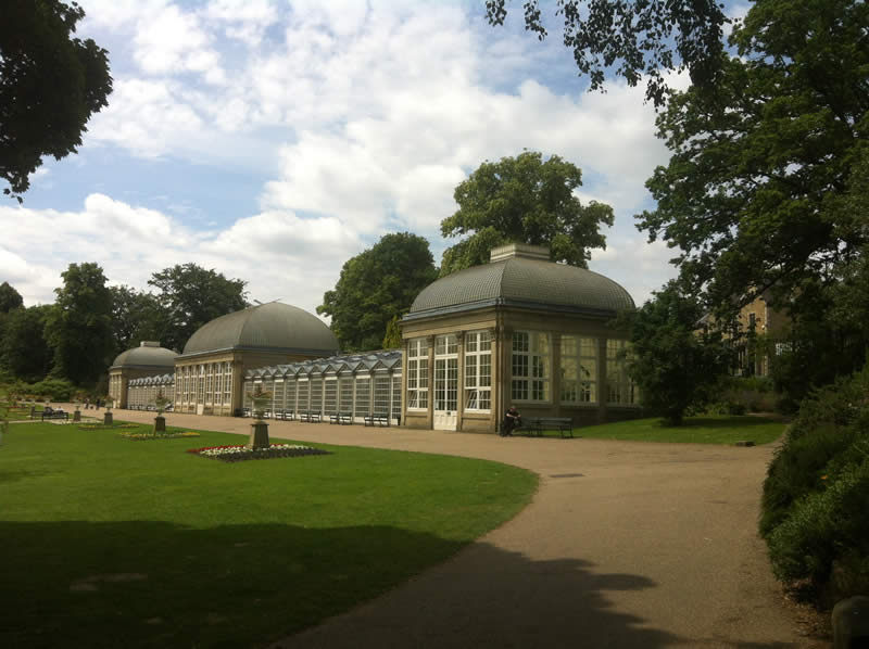 Victorian glass houses at Sheffield Botanical Gardens