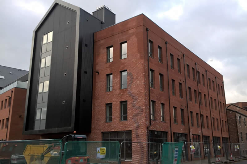 New development in Kelham Island Conservation Area (J Robin Hughes, November 2019)