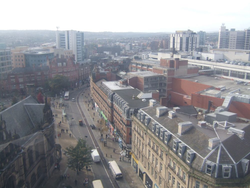 Pinstone Street from above