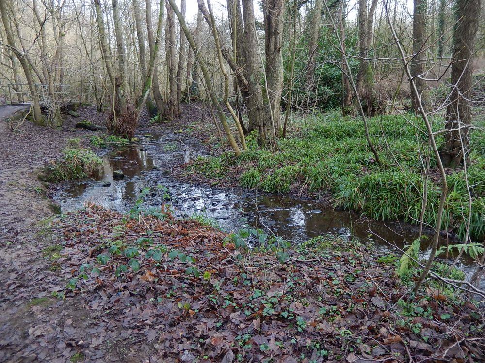 Little London Wheel stream through former dam