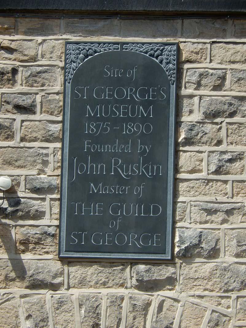 Ruskin Museum plaque