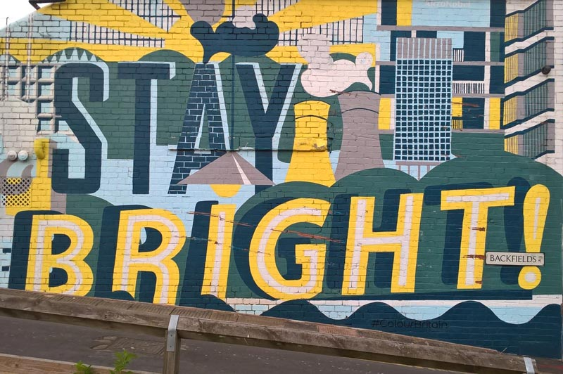 Stay Bright mural