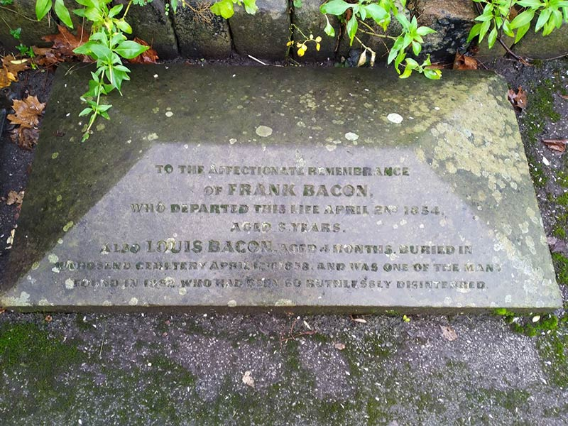Hillsborough Park Wardsend gravestone