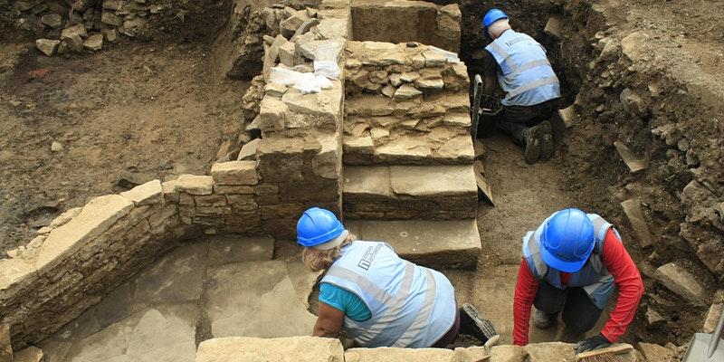 Volunteers Digging at Sheffield Castle Site