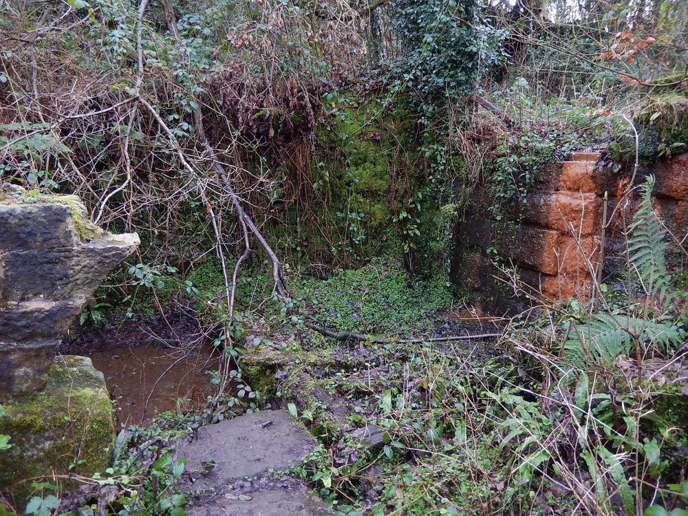 Holme Head Wheel: remains of the building, wheel pit and the wheel spindle. (RVCG, 2016)